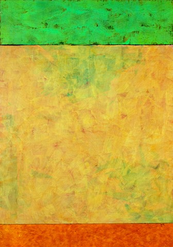 paper, green, vibrant yellow, orange, cheerful, colorful, contemporary, abstract