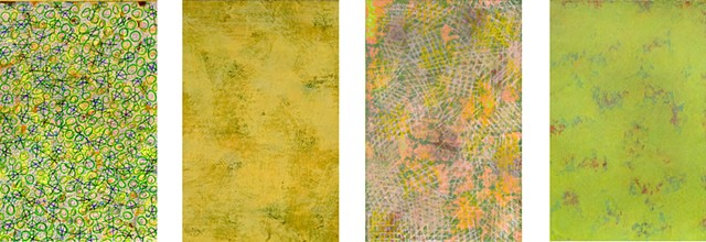 deep yellow, lime green, pattern, colorful,