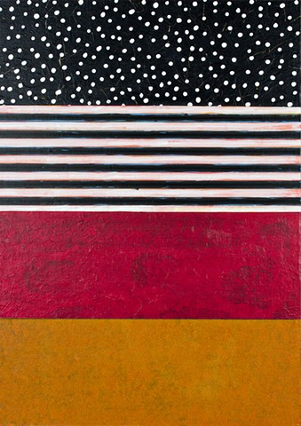 paper, mustard yellow, burgundy, cheerful, colorful, pattern, contemporary, abstract, stripes black and white