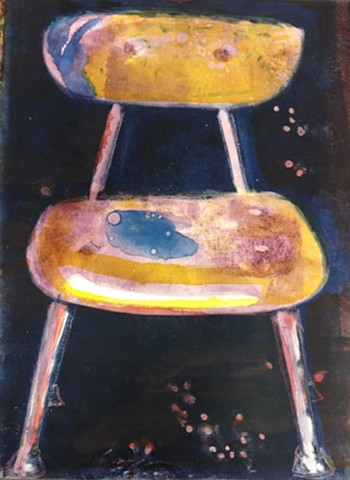 School Chair #1 Monotype. sold.