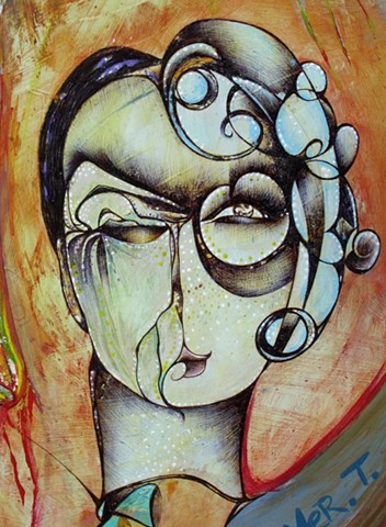 expressionism, surrealism, modern art, woman or man, woman and man