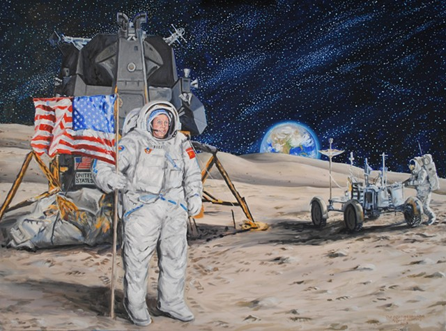 """Portrait of """"would be astronaut"""""""