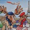 Charlie and Moe Moose in Paris