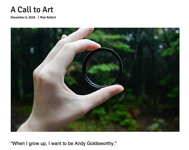 ARTICLE: A Call to Art by Mae Kellert