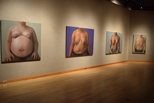 """Bearing Witness: The Breast Portrait Project, 1998 - Present"", Payne Gallery, Moravian College, Bethlehem, PA, 2017"