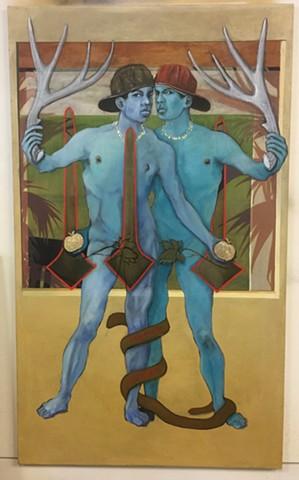 Adam & Eve, Adam & Adam, Blue boys, golden apple, snake stories, boys with horns