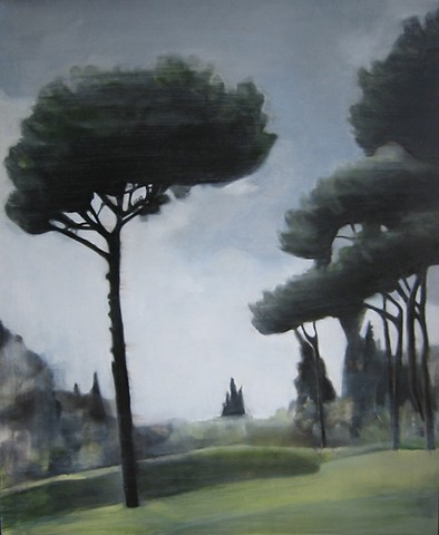 parasol pines, ambasedor to Rome, painting of Italy