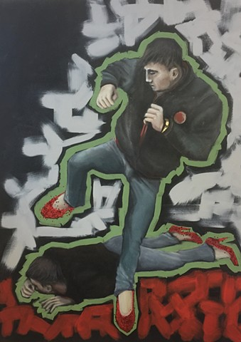 censorship,stillettos,fights,studioama art, allison morgan