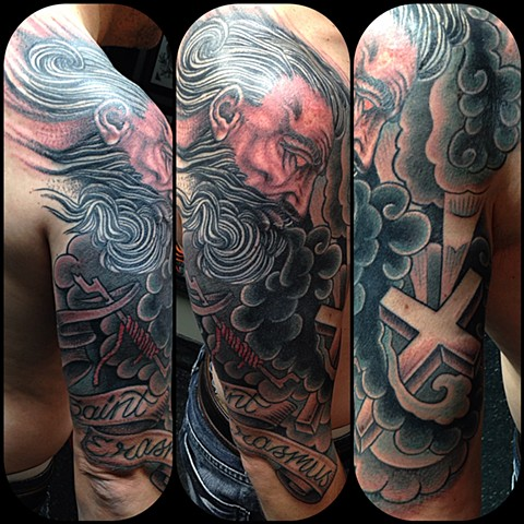 Saint Erasmus Tattoo by Dan Wulff
