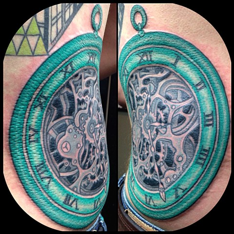 Pocketwatch Tattoo by Dan Wulff