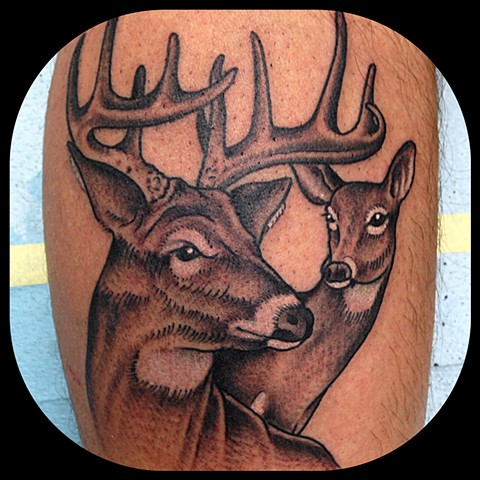 Deer Tattoo by Dan Wulff