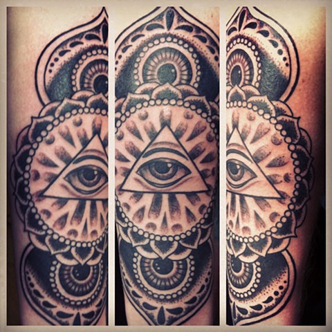 Mandala Eye Tattoo by Mike Hutton