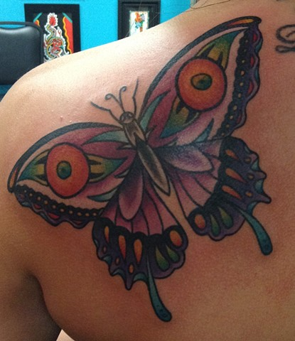 Butterfly Tattoo by Mike Hutton