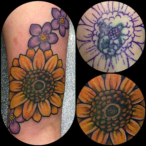 Sunflower Tattoo by Dan Wulff