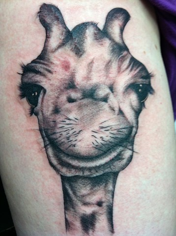 Giraffe Tattoo by Cindy Burmeister