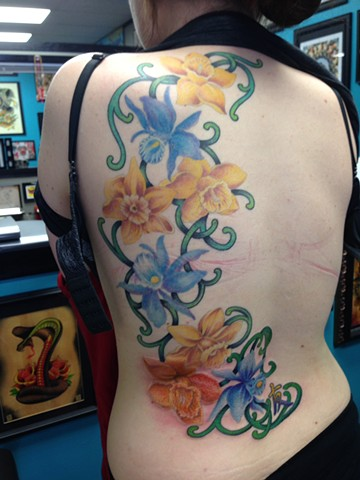 Floral Tattoo by Cindy Burmeister