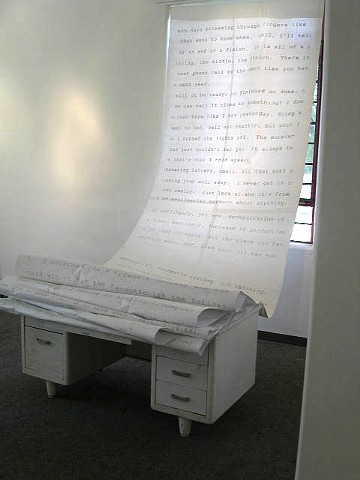 Text, Installation Paper