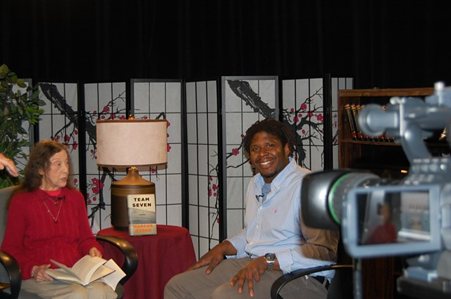 On the set of LAWRENCE CA-TV/Books & Authors, Lawrence, MA