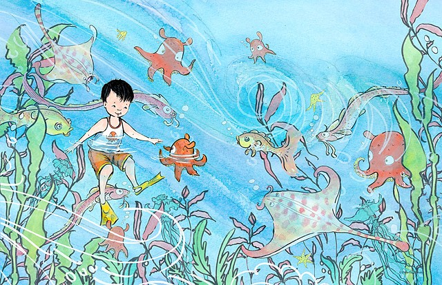 Boy meets octopus and other sea critters