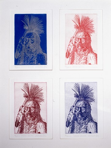 faces, native american imagery