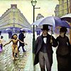 """Lessons in History Series  """"After Caillebotte / Rainy Day in Paris"""""""