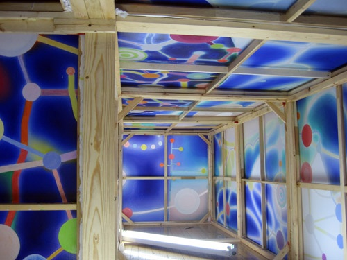 interior of blue beacon, in progress
