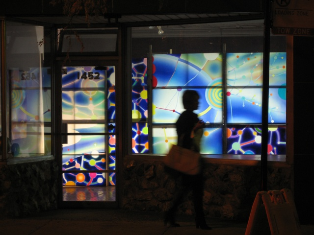 Storefront Installation viewed from street
