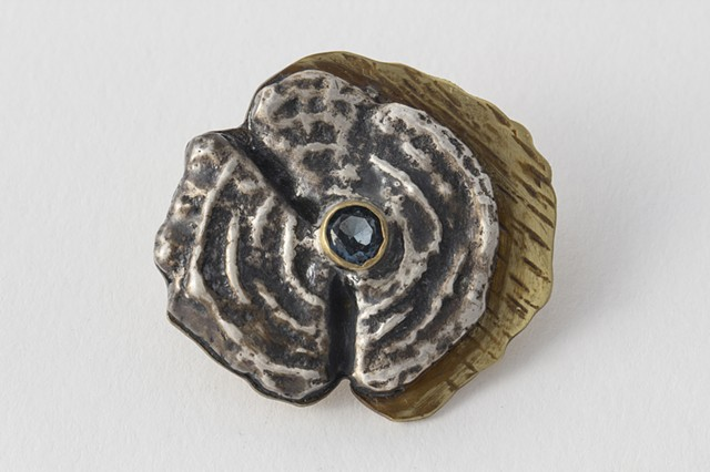 Tree Rings Brooch