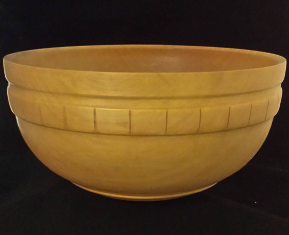 Maple Utility Bowl with Carved Side