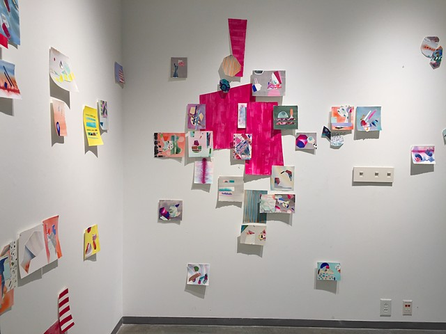 Watercolor Splice, installation view