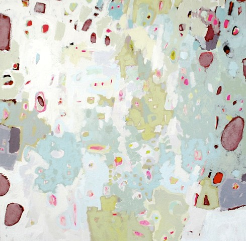 soft colors abstract painting in acrylic on gallery wrap canvas by Erin McIntosh