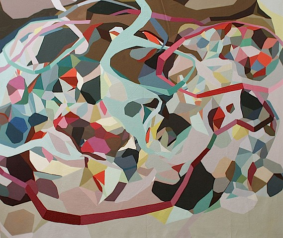 abstract geometric painting