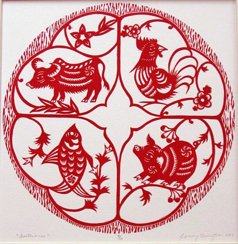 relief print, pork. poultry, beef, fish seafood