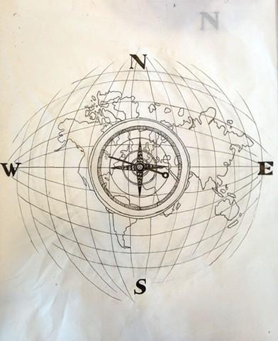 Rachel mursic illustrator world map tattoo commission process work gumiabroncs Choice Image