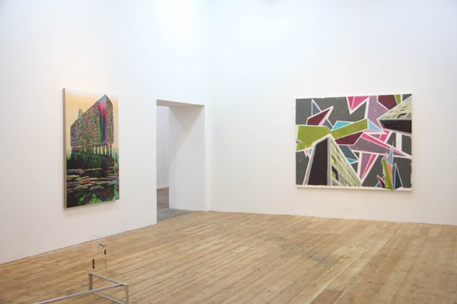 'Reconstructing the Old House' Nunnery Gallery, London Installation shot 1 Left-Right: Gordon Cheung, Benet Spencer