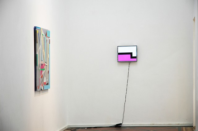 'Reconstructing the Old House' 	 Nunnery Gallery, London	 Installation shot 3 Left-Right: Danny Rolph, Julian Hughes Watts