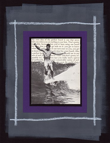 Mixed Media Surfing Collage