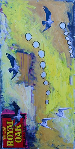 abstract expressionism featuring birds