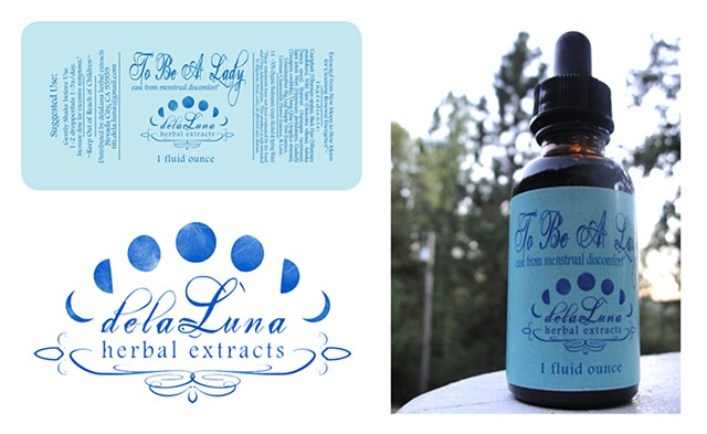 delaLuna herbal extracts label