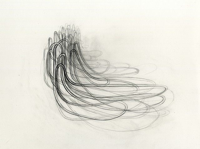 graphite drawing of continuous line by Kathleen Thum