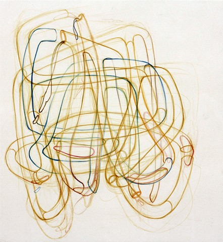 Biomorphic Abstract Drawing by Kathleen Thum