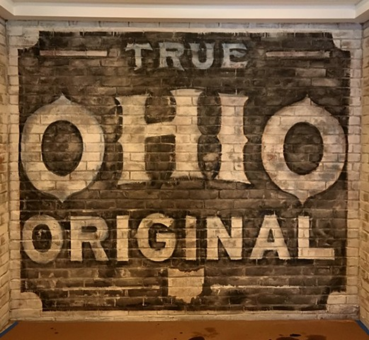 Hand Painted mural designed and painted by Clint Davidson Columbus Ohio