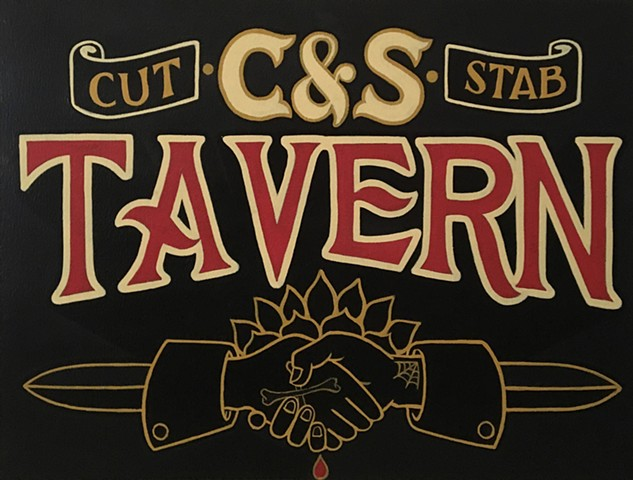Painting, Art, Bar, Tavern, Columbus, Ohio, Chalkboard, Typography, Handlettering, Clintdavidson, artist, Muralist