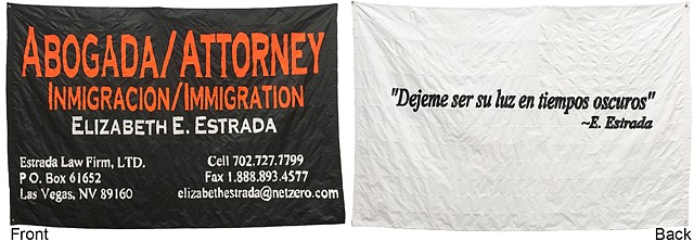 Abogada/Attorney (both sides of flag)