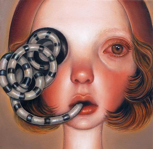 surreal art, pop surrealism, art, contemporary painting, contemporary art, oil painting, women artists, veronica jaeger art, portrait, imaginary portraits, beautiful bizarre