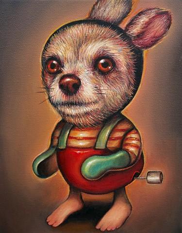 surreal, popsurreal, surrealism, portrait, lowbrow, women artists, oil painting, painting, contemporary art, contemporary painting, women artists, texas artists, latin american artists, art, artist, fine art, oil on canvas, dog painting, dog art