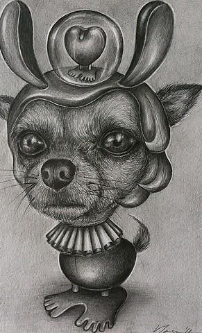 pencil on paper, pop surrealism, pop surreal, surreal, drawing