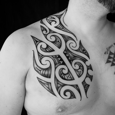 Kirituhi inspired tribal chest