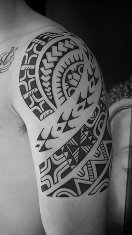 Marquesian inspired tribal