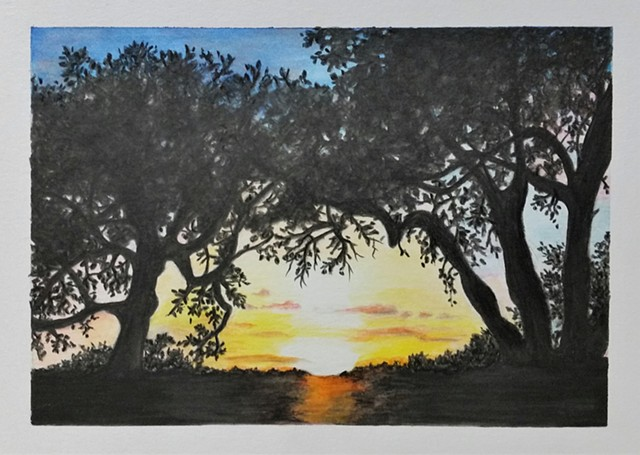 """Hill Country Sunset"""
